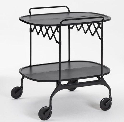 Il tavolo carrello GASTONE NERO_