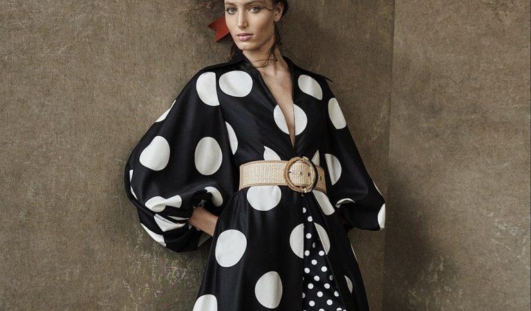 Lo charme di Aurora Talarico per la campagna di Luisa Spagnoli PE 2021