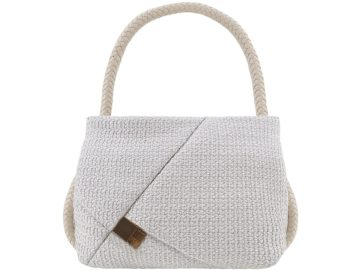 CALICANTO_HOBO LARGE RAFFIA CORDA WHITE