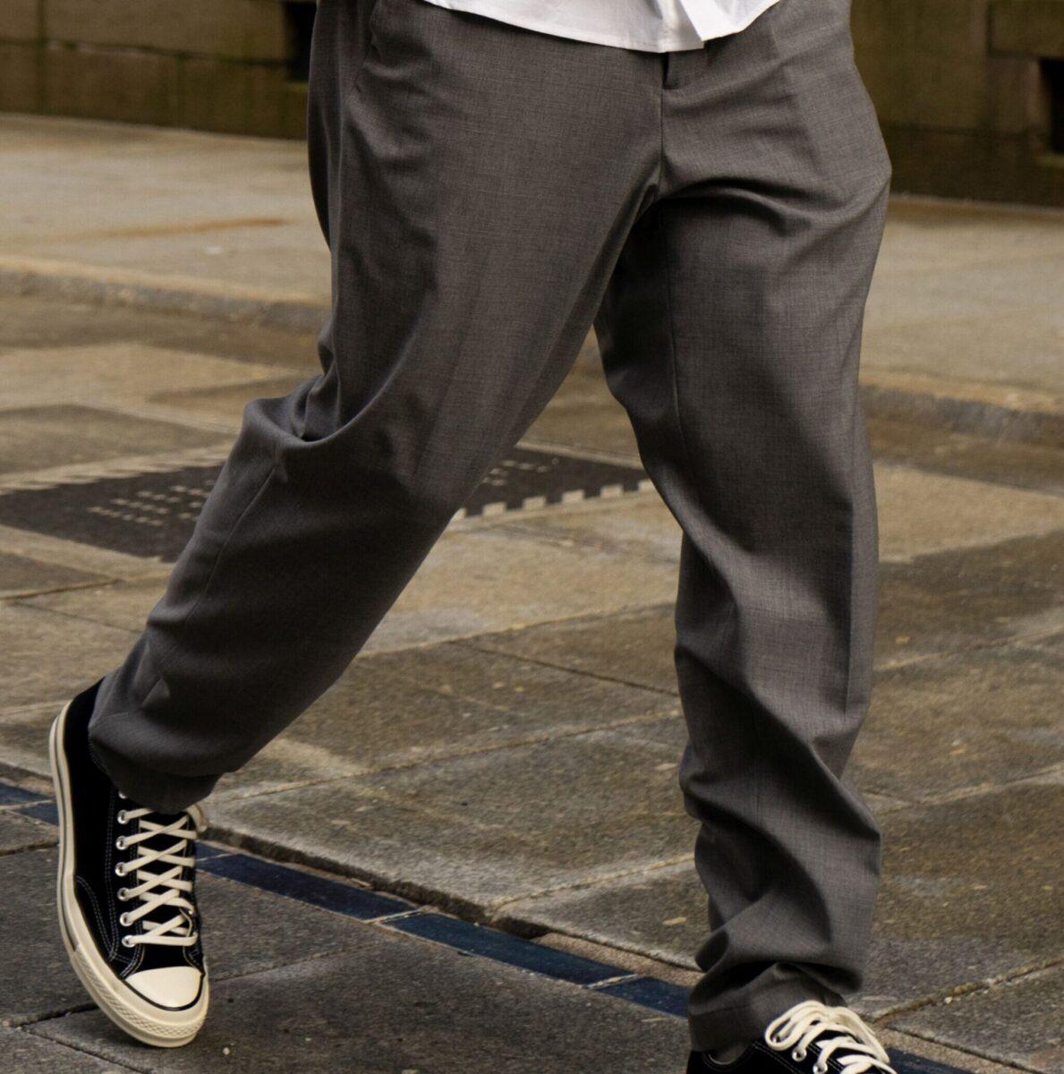 Slim Easy Wool Pants