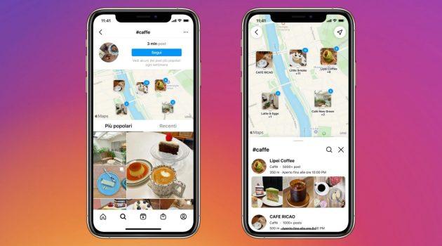 Instagram nuova funzione cerca sulla mappaH