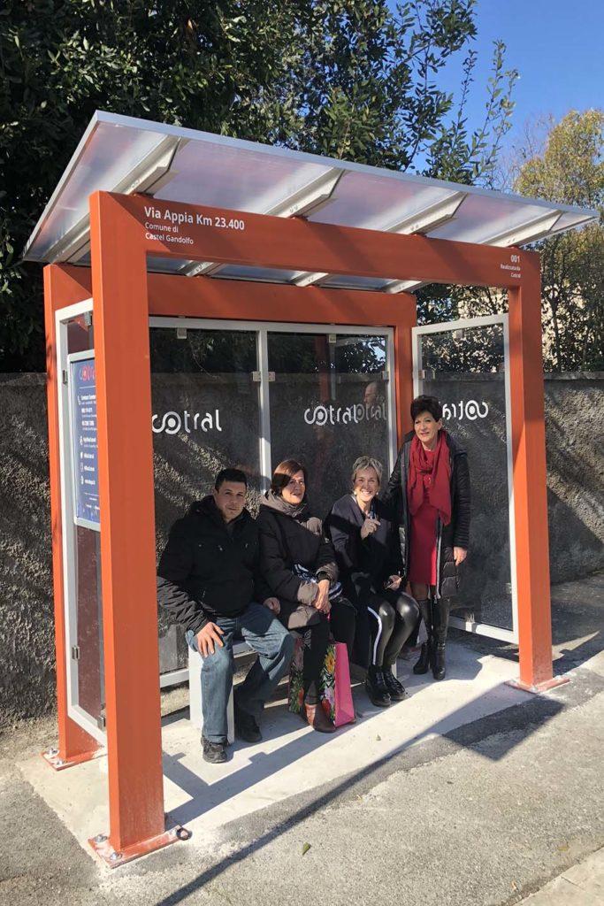 Castel Gandolfo: nuove pensiline alle fermate bus Cotral
