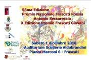 58ª edizione Premio Nazionale Frascati Poesia Antonio Seccareccia X edizione Premio Frascati Giovani