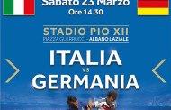 Albano: Italia – Germania, amichevole di calcio under 16 al Pio XII