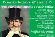 Ariccia – Palazzo Chigi, Quattro mani all' Opera con il duo pianistico Aurelio e Paolo Pollice