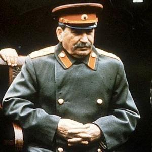 Una foto del dittatore dell'URSS, Josef Stalin