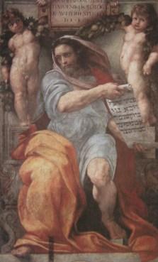 Il profeta Isaia, in un dipinto di Raffaello