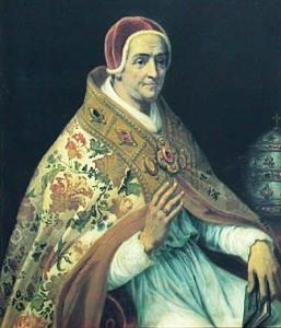 Un dipinto che ritrae Clemente VII