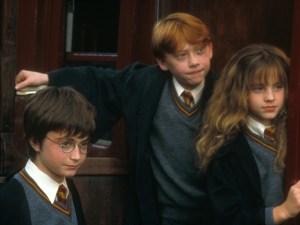 Harry Potter, Ron Weasley, Hermione Granger: il protagonista e due dei personaggi principali della saga.