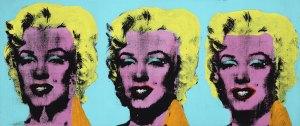 Una tra le più celebri opere dell'artista Andy Warhol (1928-1987) presente alla mostra.