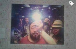 "Una fotografia dell'artista Ai Weiwei (1957) presente alla mostra ""Andy Warhol - Ai Weiwei""."