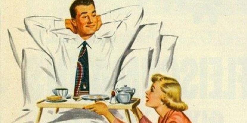 Una locandina degli anni '50 che domanda se sia sempre giusto uccidere una donna