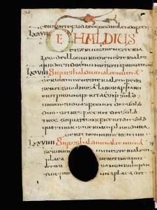 Un'immagine della copia originale dell'Editto di Rotari, conservata nell'abbazia di San Gallo in Svizzera