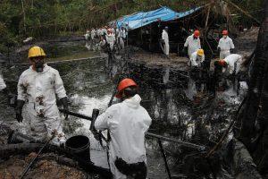 oil in the river