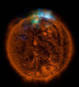 L'immagine del Sole ai raggi X ottenuta grazie al telescopio Nustar