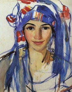 Autoritratto con sciarpa (1911)