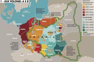 Cartina geopolitica delle ultime elezioni politiche in Polonia a ottobre 2015. A cura di Francesca La Barbera
