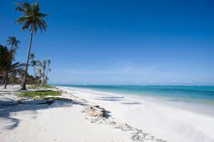 La spiaggia di Bwejuu nell'arcipelago di Zanzibar, Tanzania