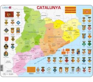 Mappa della Catalogna - Spagna