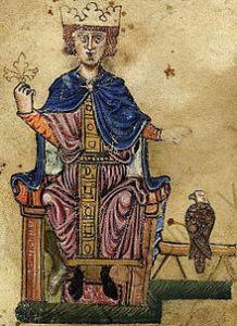 Federico Ruggero di Hohenstaufen (1194-1250) è stato re di Sicilia, Re dei Romani e poi Imperatore del Sacro Romano Impero (come Federico II) e infine re di Gerusalemme