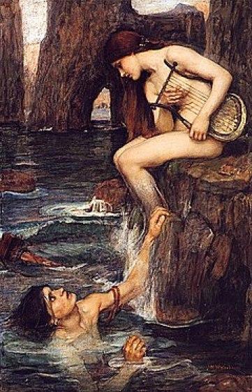 The Siren (1900 c.ca), ad opera del pittore britannico John William Waterhouse (1849-1917)