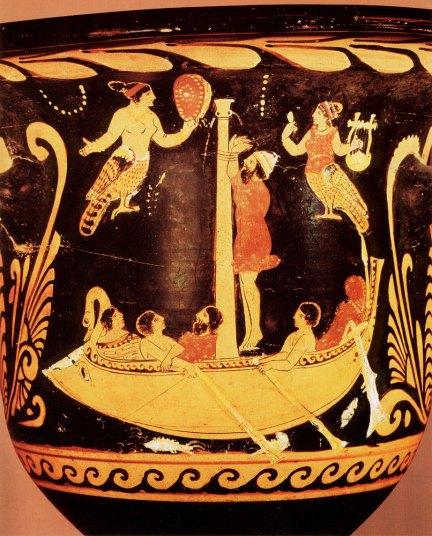 Odisseo e le Sirene, python, 450-25 a.C. c.ca