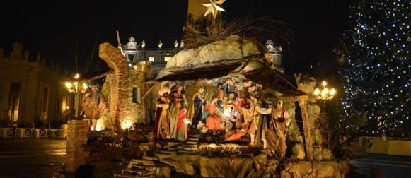 Tornato a Napoli il presepe di Piazza San Pietro
