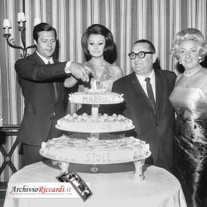 Sophia Loren - 1964 - cocktail fine riprese Matrimonio all'italiana - con Marcello Mastroianni - 304