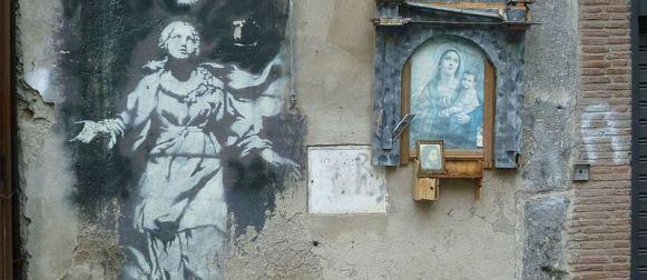 Banksy, salvata a Napoli la Madonna con la pistola