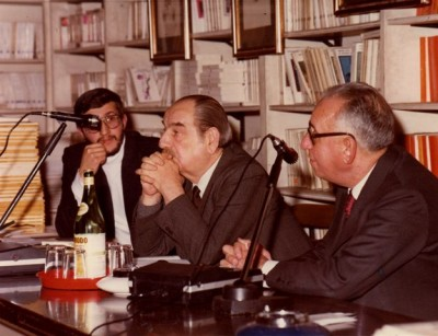 2-Roma 1980 Libreria Remo Croce presentazione della Cartella della Bottega dell'Orefice illustrata da Guadagnuolo