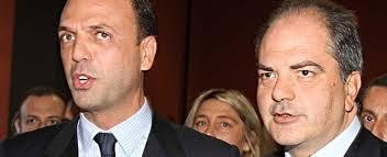 Il ministro Alfano con Giuseppe Castiglione