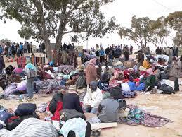 Accampamento di profughi in Libia