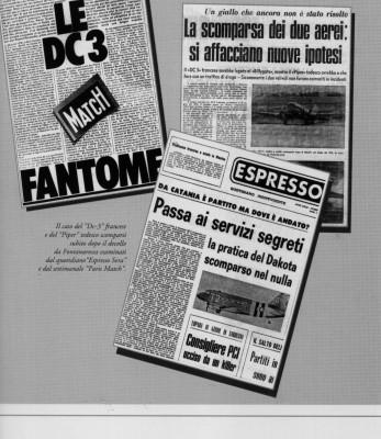 La scomparsa del DC3 a Fontanarossa