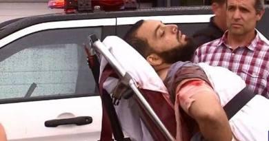 Ahmad Khan Rahami dopo lo scontro a fuoco