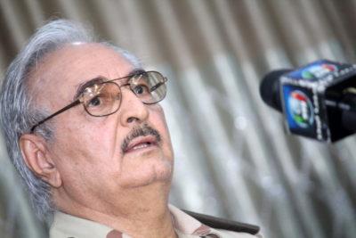 Il generale libico Khalifa-Haftar