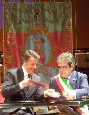 Matteo Renzi con Enzo Bianco