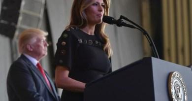 Melania Trump a Sigonella