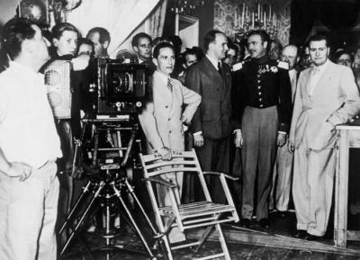 Joseph Goebblels con Vittorio Mussolini