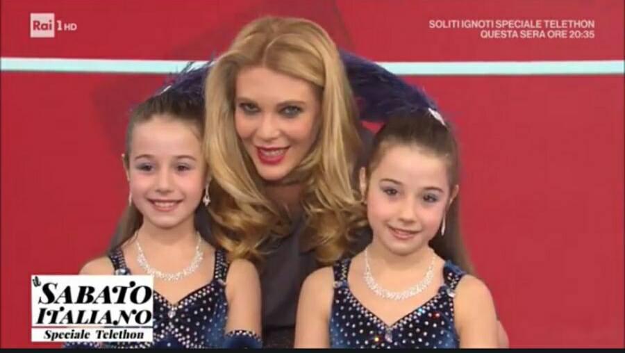 Le gemelline Aurora e Giada sono Il sabato italiano