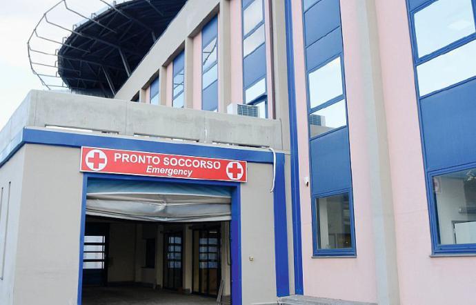 L'ingresso del nuovo Pronto Soccorso al Policlinico di via Santa Sofia a Catania (ph. La Sicilia)