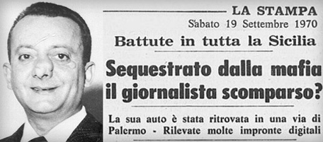 Mauro De Mauro scomparso prime notizie