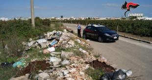 rifiuti desseminati a San Pietro in Bevagna