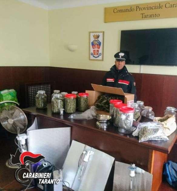 Nel magazzino un vero e proprio laboratorio per lavorazione di hashish. I Carabinieri arrestano un insospettabile luogo.
