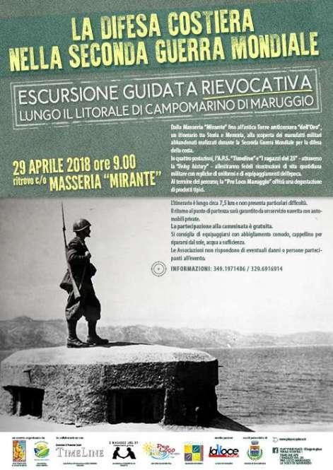 Domenica 29 Aprile: escursione guidata rievocativa, sulle tracce dei bunker e delle casematte del litorale di Campomarino di Maruggio