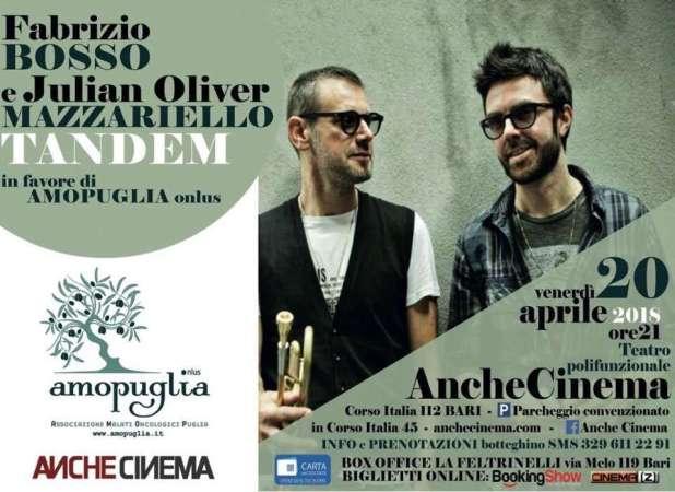 Il Jazz si sposa con la solidarietà: Fabrizio Bosso in concerto a Bari con Julian Oliver Mazzariello