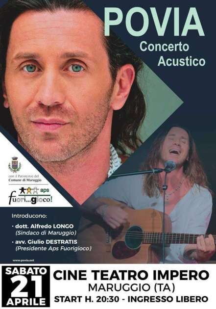 Maruggio 21 aprile 2018 - POVIA Concerto Acustico