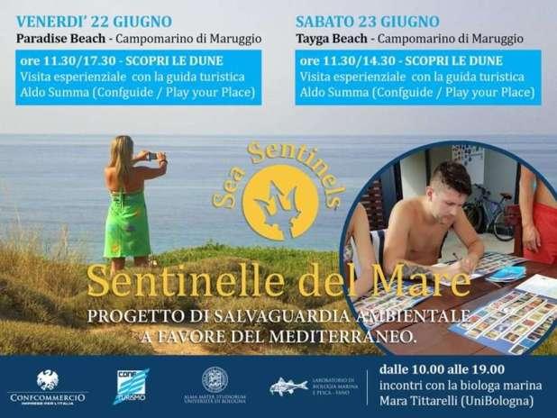 """""""Sentinelle del mare"""": due appuntamenti a Campomarino di Maruggio"""