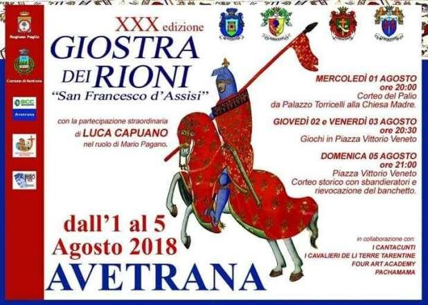 """Avetrana: Al via il primo agosto il """"Palio di San Francesco"""""""