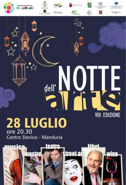 Lorenzo Flaherty e Antonio Caprarica, tra gli ospiti dell 'VIII Edizione della Notte dell'Arte