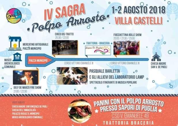 1 e 2 Agosto - Sagra del polpo arrosto a Villa Castelli (Br)
